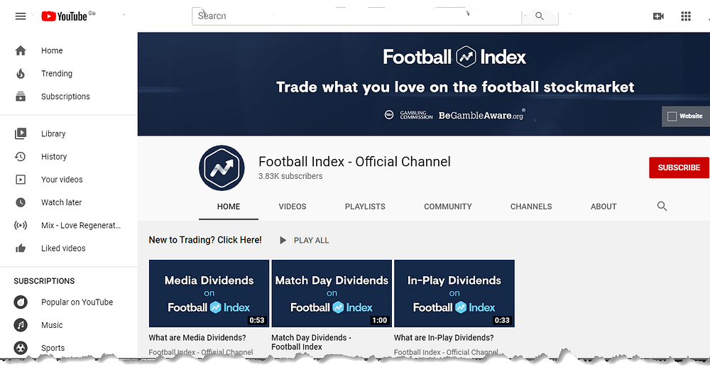 is football index a scam - youtube presence
