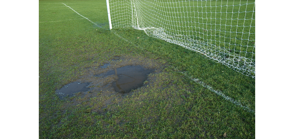 why do soccer teams switch sides at halftime - muddy pitch surfaces