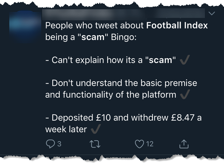 is football index a scam - twitter rant