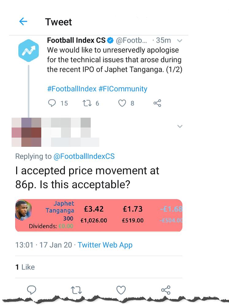 football index ipo - tanganga catastrophe