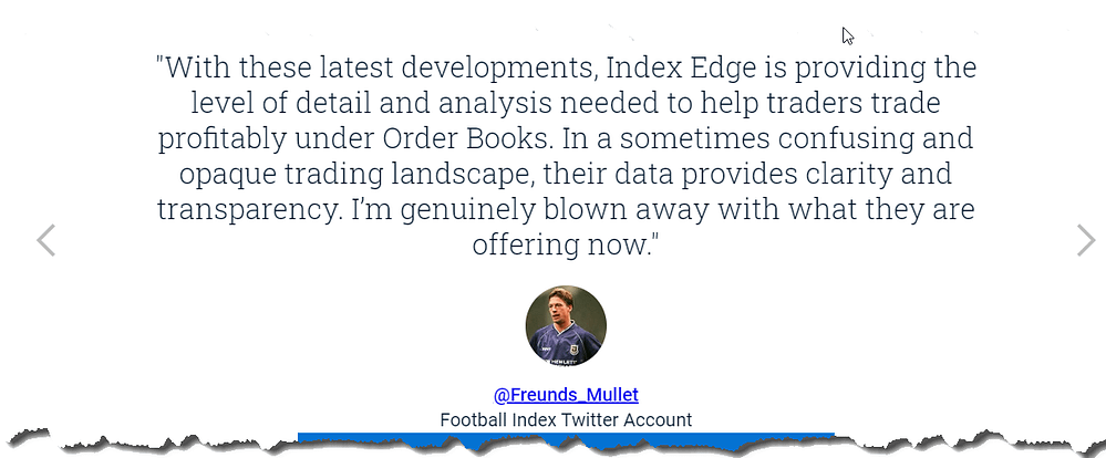 football index edge review - customer feedback